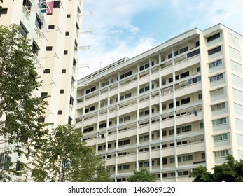 SINGAPORE:26 JULY 2019: Housing & Development Board (HDB) flat in Singapore. HDB flats are home to over 80% of Singapore's resident population, with about 90% of these resident households is the owner