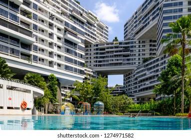 SINGAPORE-28 DEC 2018: The Interlace Condominium in Singapore
