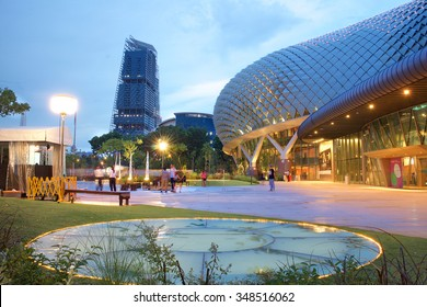 SINGAPORE-DEC 16, 2014: Esplanade Theatres on the Bay in Singapore on December 16, 2014. Esplanade Theatres on the Bay is an international and local center for performance arts.