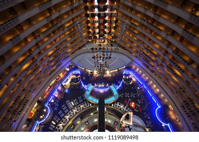 SINGAPORE-JUNE 17, 2018: Interior view of Marina Mandarin Hotel, Singapore, Singapore