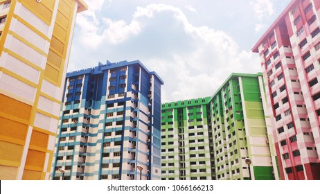 Singapore's colorful HDB residential public housing