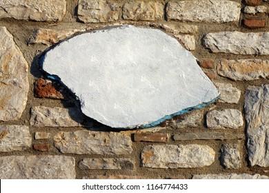 Singboard on the wall