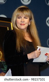 Singer STEVIE NICKS at the nominations announcement, in Beverly Hills, for the 44th Annual GRAMMY Awards.  Paul Smith/Featureflash