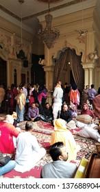 Singing Bajan in Temple, Vrindavan, UP -India, December 7, 2015