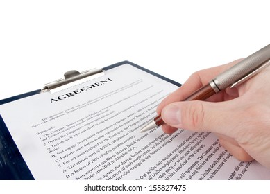 Singing the contract (agreement)