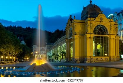 Singing Fountain in Marienbad spa, czech republic