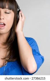 Singing Headphones Girl