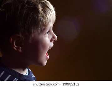 singing little boy