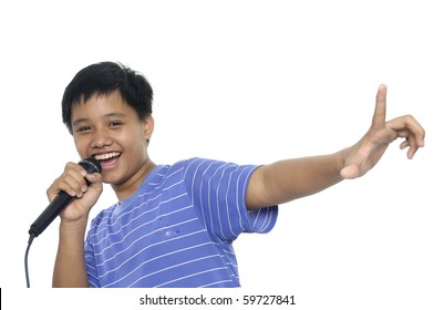 Singing Young boy