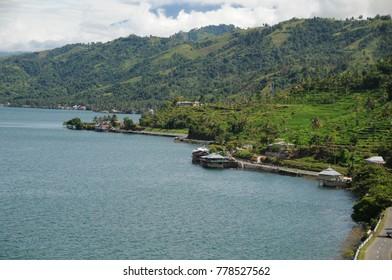 Singkarak lake , Solok West Sumatra Indonesia ( Padang, Minang, Minangkabau )
