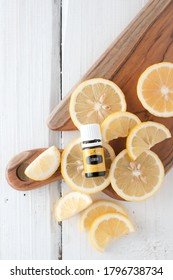 Singkawang, Indonesia - August 6 2020: Young Living Essential Oil. Lemon essential oil,variant favourite oil for diffused. Selective focus.