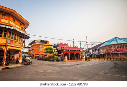 Singkawang, West Kalimantan, Indonesia : Tri Dharma Bumi Raya, the oldest temple in the town, the building become a heritage  and a tourist destination  (09/2015).