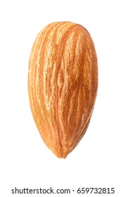 single almond photo closeup isolated on white background