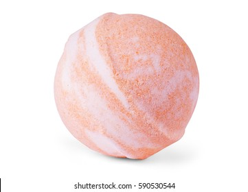 Single bath bomb, isolated on the white