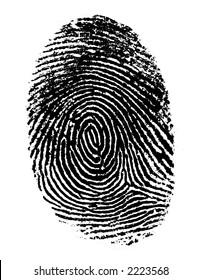 Single black fingerprint