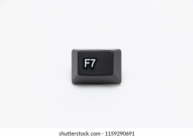 Single black keys of keyboard with different letters