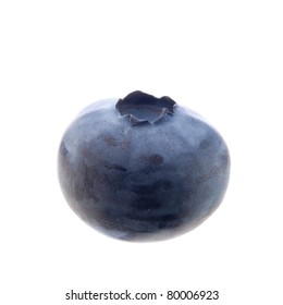 single blueberry isolated