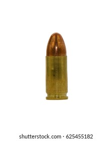 Single bullet for a gun isolated on white background