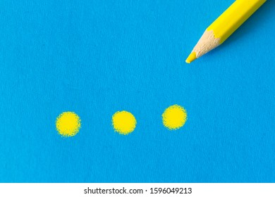 Single color pencil with copy space for text