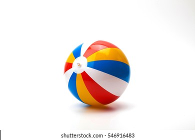Single Colorful Inflatable PVC beach ball isolate