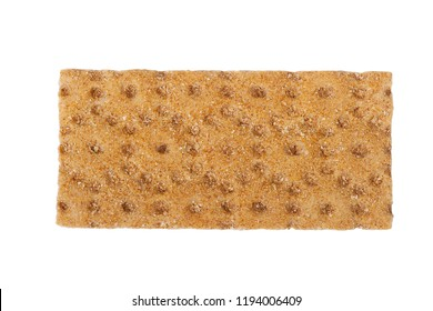 Single dry flat breads isolated on white background