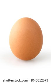 Single Egg isolated over a white background.