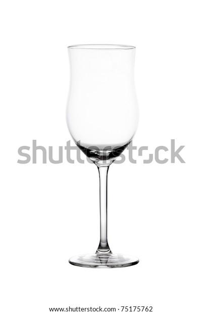 Single empty cocktail glass