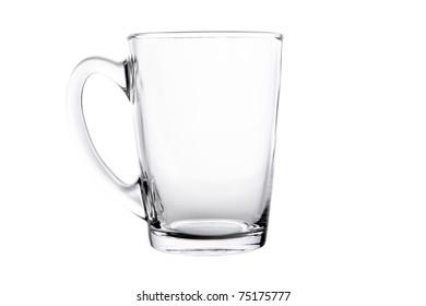 Single empty tea glass