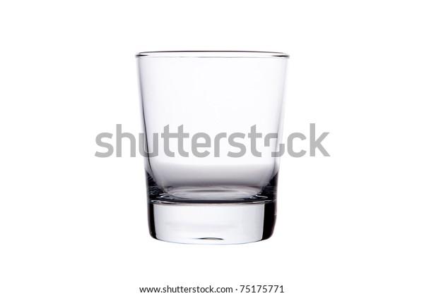 Single empty whisky glass