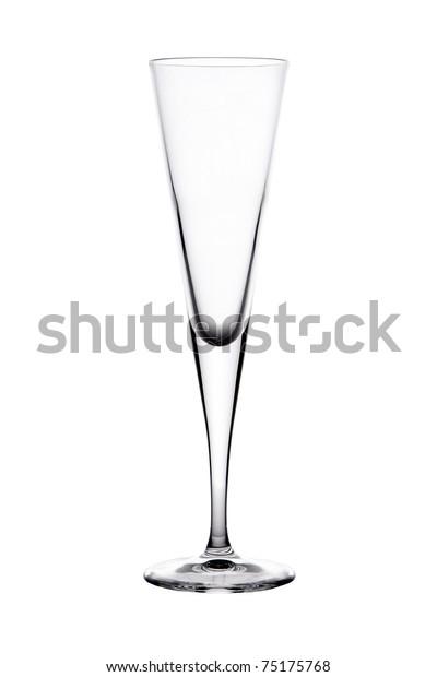 Single empty wine glass
