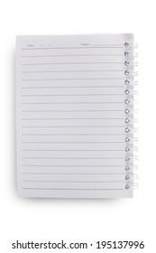 Single face notebook