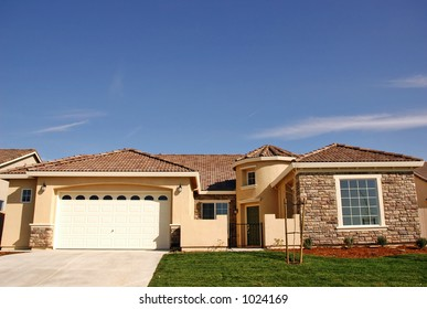 Single family home in a residential neighborhood