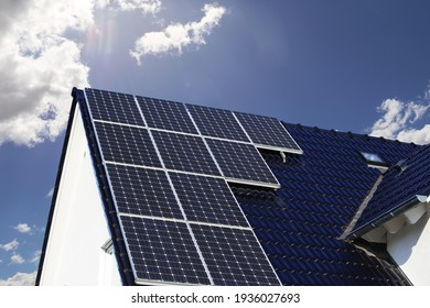 Single family house with solar system or photovoltaic system