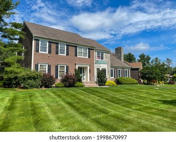 Single family suburban two story house in New Jersey.