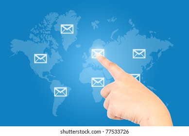 Single finger press mail in world wide.
