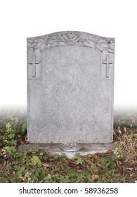 single grave stone cut out