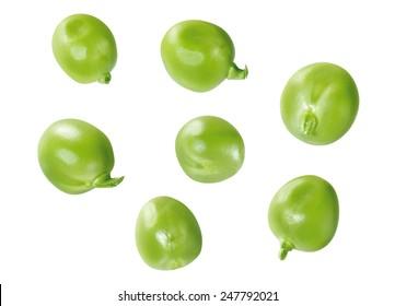 single green peas, isolated