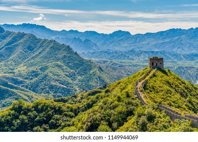 A single guard tower on The Great Wall of China