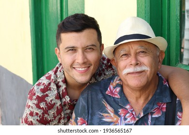 Single Hispanic mature father with only one adult son