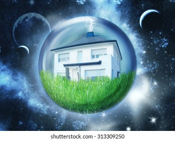 Single house in space