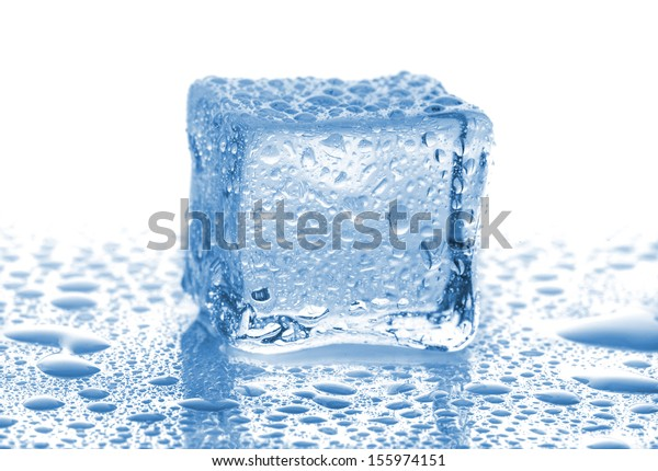 buying now amazon online for sale Single Ice Cube Drops Water On Stock Photo (Edit Now) 155974151