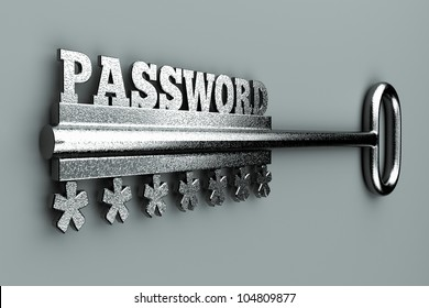 "a single key with word  ""password"" as a concept"