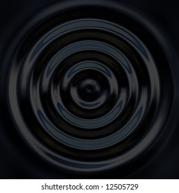 single large glassy black water ripple