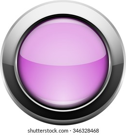 Single metallic purple web button
