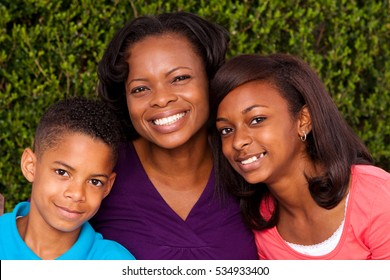 Single mother and her children.