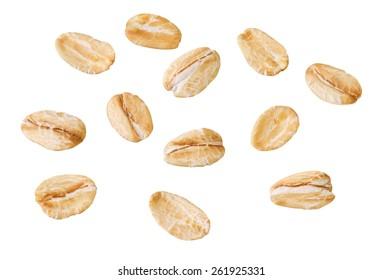 single oat flakes