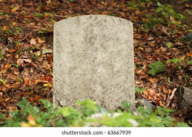 Single old grave in autumn