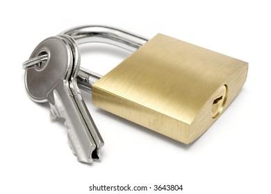 Single Padlock w/ Keys