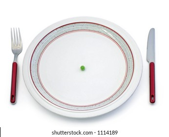 Single pea on plate