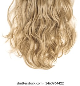 Single piece clip in honey brown wavy synthetic hair extensions